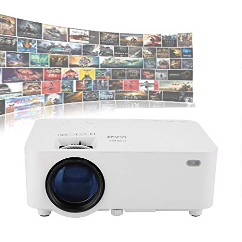 Yoidesu Portable Projector,Full HD 1080P Movie Projector,LCD LED Home & Outdoor Projector Compatible with TF Card/USB/HDMI/VGA,Mini Projector Best (US Plug)