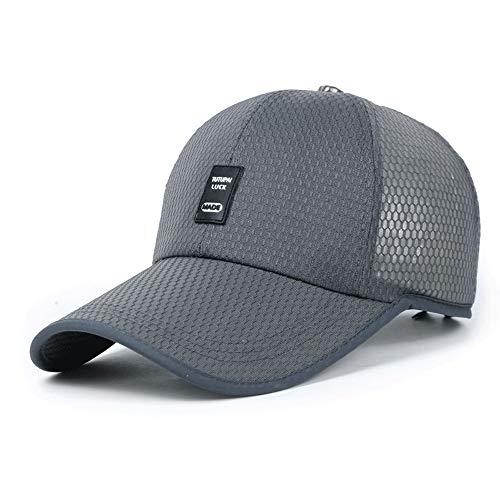 HXXWJ Sombrero de Verano para Hombres Sombrero para el Sol Sombrero de Pesca Casual de Secado al Aire Libre Gorra Transpirable de Malla para Sol Gorra de béisbol Gorra de béisbol