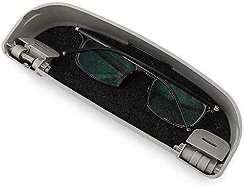 LJQJYFC Coche Gafas Titular Gafas de Sol Caja de Almacenamiento Maleta Repuestos para VW Volkswagen T-ROC TROC 2018 2019 Accesorios del Coche - Beige