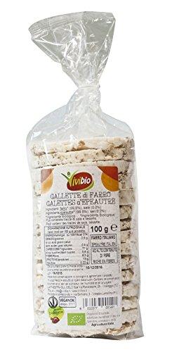 Vivibio Gallette 100% Farro con Sale - Pacco da 12 x 100 gr - Totale: 1200 gr