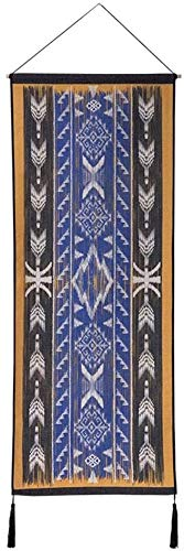 HLZY Large Bohemian Macrame Wall Hanging Wall Tapestry, Boho Tapestry, Wall Hanging Mandala Indian Print Tapestries Fabric Hanging Cloth 47x120cm, for Wedding Backdrop Curtain Fringe Garland