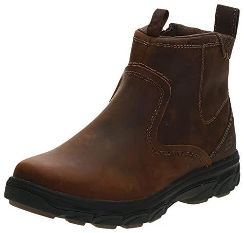 Skechers Men's RESMENT-Korver Chelsea Boot Side Zip Hiking, Cdb, 11 Extra Wide US