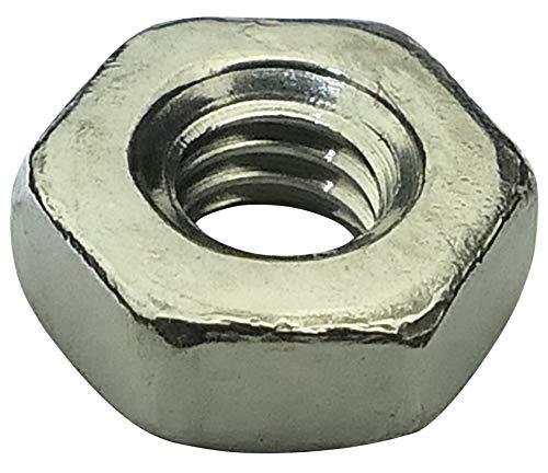 Aerzetix: 100x écrou héxagonal M2.5 5mm H2mm DIN934 Acier INOX A2 C19234