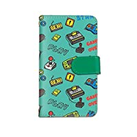 [bodenbaum] LG it LGV36 手帳型 スマホケース カード スマホ ケース カバー ケータイ 携帯 LG エルジー エルジー イット au ゲーム イラスト GAME a-243 (B.グリーン)