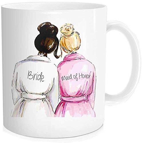 Sweet Brideand Maid Of Honor Kaffeetasse Teetasse Stilvolle Best Friend Bestie Braut Hochzeitsgeschenke Brautparty Gastgeschenke Brautjungfer