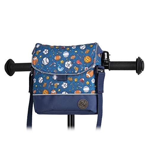 BambinIWelt Bolsa para manillar de bicicleta Puky para Woom bicicleta scooter bicicleta para niños impermeable con correa para el hombro