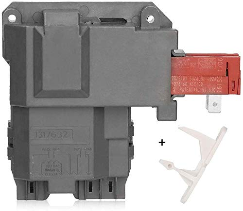 1317632 131763202 131763256 Washer Door Lock Latch Switch Assembly & 1317633 Door Strike for Frigidaire White-Westinghouse Crosley Electrolux GE Gibson Front Load Washer Replace 131763256 & 131763310