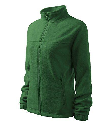 Damen Fleece Jacket Hochwertige Fleecejacke Anti-Pilling (M, flaschengrün)