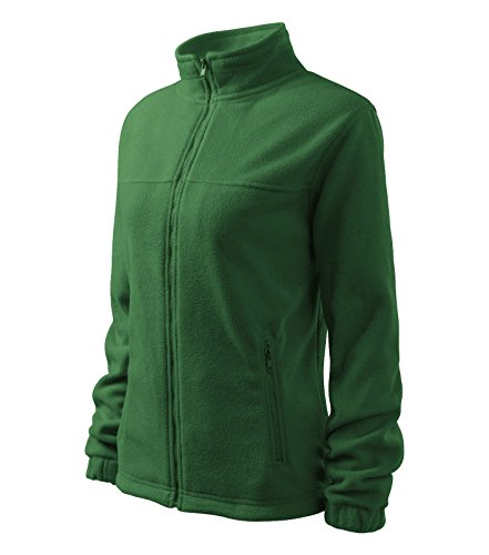 Damen Fleece Jacket Hochwertige Fleecejacke Anti-Pilling (M, flaschengrün)