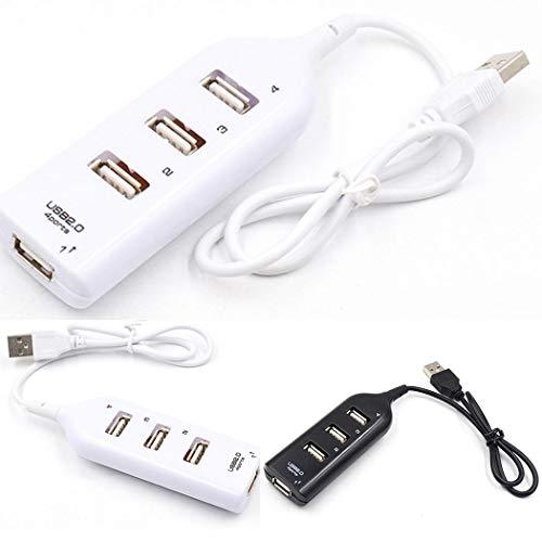 Fandazzie Convertidor de concentrador USB 2.0 portátil práctico de Alta Velocidad de 3 Puertos Accesorios de informática