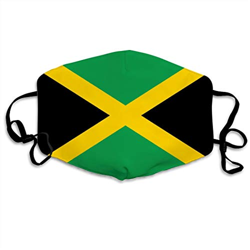 YUSMO Jamaican Flag Comfortable Adjustable Funny Pattern Facial Decorations for Women and Men