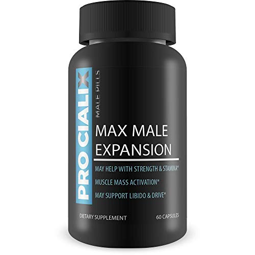 Pro Cialix Male Pills - Max Male Expansion - Alpha Male Restoration - Strength, Stamina, Libido, Drive Support Blend - L-Arginine Based Male Support Blend - No2 Supplement Pills