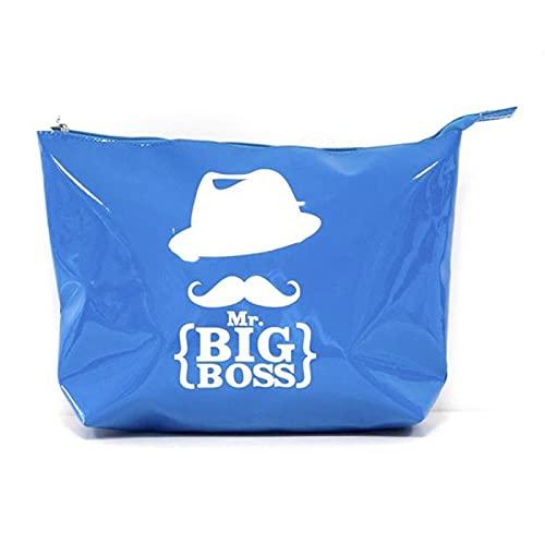 Paris Prix - Trousse De Toilette Mr Moustache® 30cm Bleu