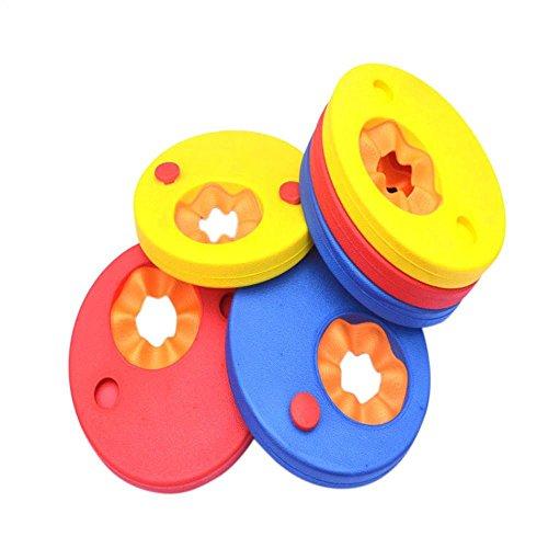 Kids Swimming Training Tool, FTXJ 6Pcs EVA Foam Swim Arm Bands Floats Discs Tube Armlets for Children