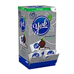 One box of York peppermint patties Perfect for snacking on at home, the office or the movie theater Changemaker box of chocolate candy lets you store and display your treats 70% less fat than the average of the leading chocolate candy brands Stock up...