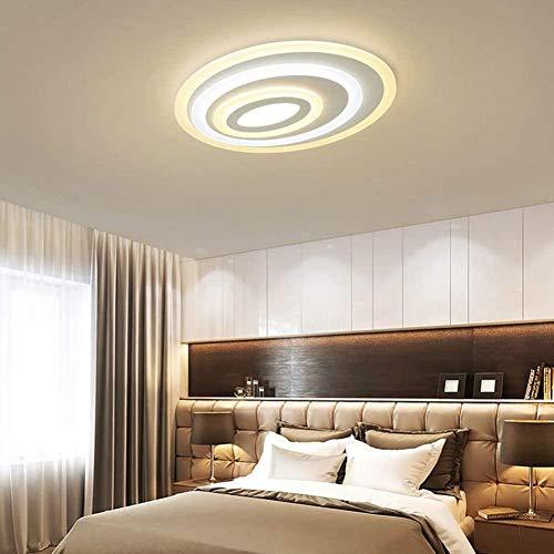 Ovalada LED de techo de acrílico dormitorio moderno de la lámpara de la cocina almuerzo ligero oficina pasillo marca de agua lámpara de techo blanco, 50x 40 cm,50x 40 cm