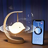 Night Light with Music for Bedroom,Cute Bluetooth Speaker Led Bird Lamp,Kawaii Room Desk Color Changing Decor,Anime Stuff Gifts for Kids,Teen Girls,Baby Nursery,Battery Operated,Portable,Rechargeable