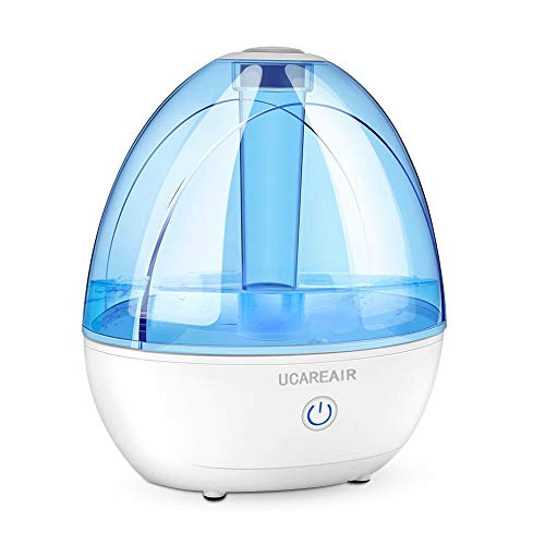 Cool Mist Humidifier -C Humidifier for Bedroom, Quiet Mist Humidifier, High Low Mist, Waterless Auto-off, Night Light, Baby Kids Nursery, 2L Tank, Filterless Humidifiers for home office, ETL Approved