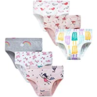 6-Pack Toddler Girl Soft Cotton Underwear (various styles/sizes)