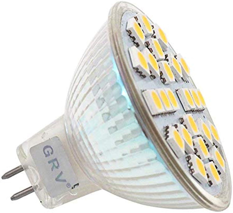 GRV MR16 G5.3 48-3528 SMD LED Licht 3 W G5.3-Stiftsockellampe Lampe Leuchte Strahler Leuchtmittel AC DC 12-24 V 10er-Pack warmwei