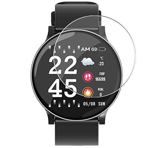 Vaxson 3 Stück 9H Panzerglasfolie, kompatibel mit Smartwatch smart watch LFMFO W8 Panzerglas Schutzfolie Displayschutzfolie Bildschirmschutz Intelligente Uhr Armband Smartwatch