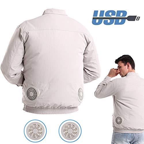BLLJQ Klimaanlage Kleidung Jacke, Tragbarer Lüfter der Klimaanlage, Sommer Arbeitskleidung, USB Akku, für Hochtemperaturarbeiter,S/M