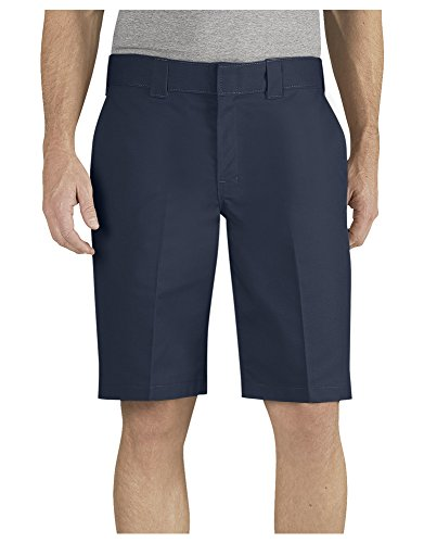 Dickies Men's 11 Inch Relaxed Fit Stretch Twill Work Short, Dark Navy, 32