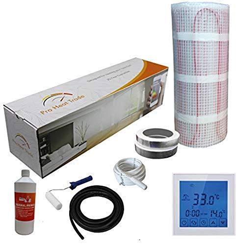 Nassboards Premium Pro – Elektrische Verwarming Voor Vloerverwarming, Geel 150 W per m2 - Witte Touchscreen Thermostaat - 1.5m2