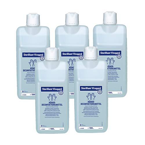 5 x 1000ml Sterillium Virugard Hygiene Händedesinfektion Desinfektionsmittel
