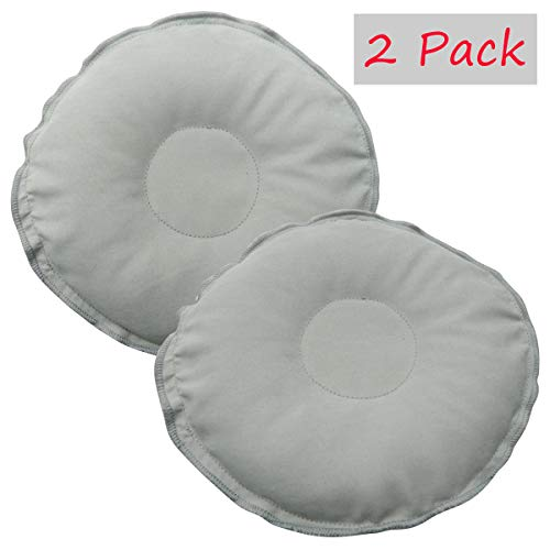 Breast Therapy Pack Hot or Cold, Soothing Nursing Heating Pad or Cold Compress for Breastfeeding, Flaxseed 2 Pack (Flaxseed Pack 2 (Grey))
