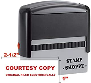Courtesy Copy - Stock Stamp - Grey 4913 Self Inking Stamp - Style 125 (Red Ink, Stamp Alone)