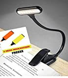 SHOPOPOYE Book Reading LED Light Rechargeable with Clip ; Bedside Study Night Lamp