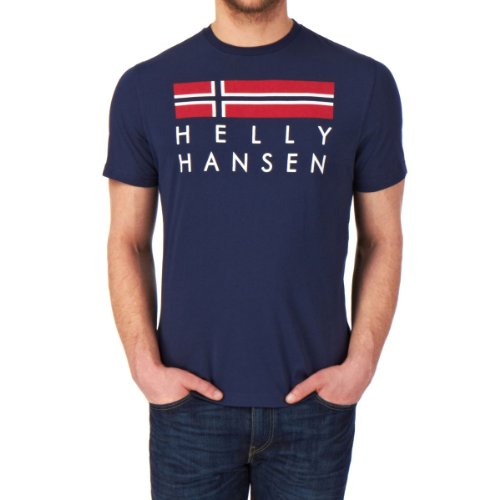 Helly Hansen Graphic T-Shirt manches courtes Homme Evening Blue FR : XXL (Taille Fabricant : 2XL)
