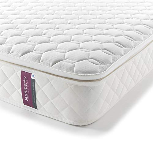 Summerby Sleep' No4. Pocket Spring and Memory Foam Pillow-top Mattress | Double: 137cm x 190cm