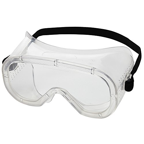 Sellstrom Safety Goggles Eye Protection S81000, Flexible, Soft Protective Eye Shield for Men and Women with Clear Lens and Body, Direct Vent, Adjustable Strap, Meets ANSI