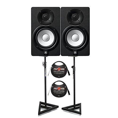 Yamaha HS5 Aktive Monitore (Paar) mit TRS XLR-Kabel und Lautsprecherständer
