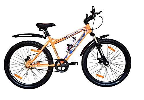 Avon Bicycles GEN Now Dual Disc Brake and Front Suspension 26T Bicycle, 17.5'' Frame, 26 inch wheel (Orange)