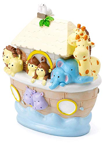 Mousehouse Gifts Kids Noah's ark safari themed piggy bank money box gift for a boy or a girl