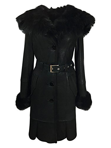 DX Leather Products -  Cappotto - Donna Black Medium
