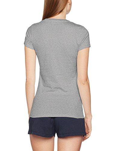 Tommy Hilfiger SS tee Print Camiseta, Gris (Grey Heather 004), XS para Mujer