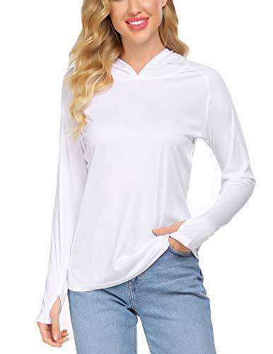 Balancora Sport T-Shirt Damen UV-Shirt Langarm Atmungsaktive Fitness Shirt Sportbekleidung Schnell Trockened Laufshirt