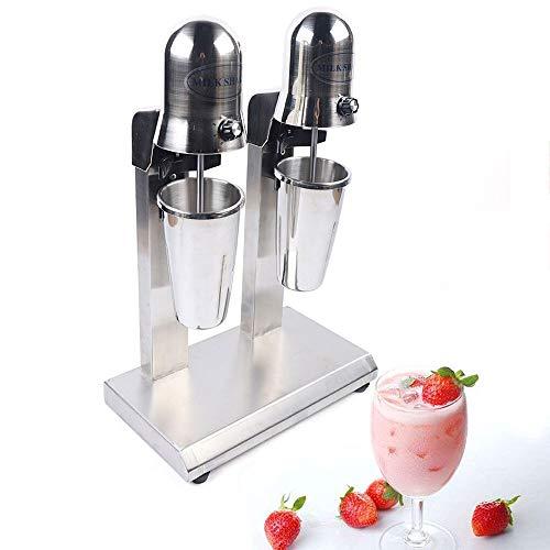 Electric Milkshake Maker, 110V 560W Commercial Stainless Steel Drink Mixer Machine Smoothie Malt Blender with 2 Speed Adjustable (560W)