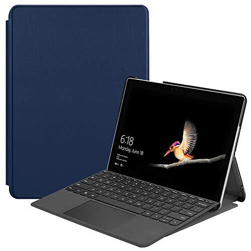 NUPO Funda para Microsoft Surface Go 2 10,5 pulgadas, ultra fina, PU Ultra Leightweight Flip Funda con función atril, perfecta para Surface Go2 2020 Tablet PC, color azul