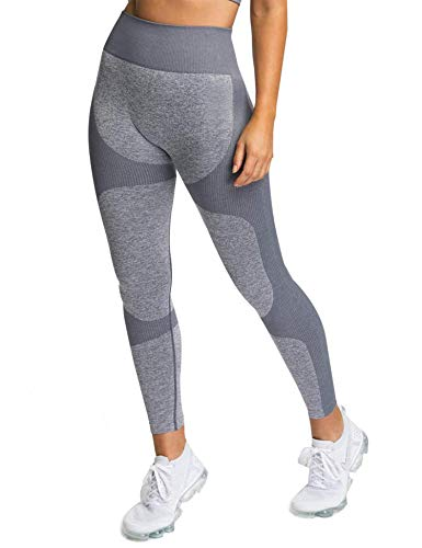 Leggings de yoga de cintura alta sin costuras, ultra elásticos, pantalones de entrenamiento para gimnasio