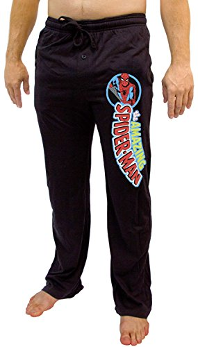 Marvel Amazing Spider-Man Classic Character Logo Adult Lounge Pants (Small)