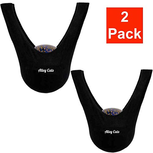 Alley Cats Bowling Ball Seesaw 2 Pack | Black Microfiber | Great Value | Premium See Saw Polisher/Cleaner Towel