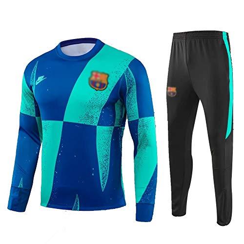 ANLEI Club de Fútbol Manga Larga entrenamiento de fútbol juego de los hombres Jersey Traje de deporte (Tops + Pants) - AS1045 Conjunto Traje Entrenamiento Fútbol (Color : Multi-colored, Size : XL)