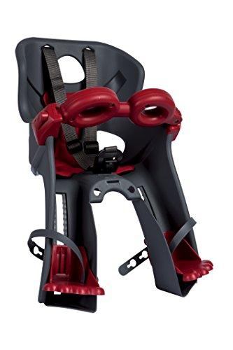 Bellelli 01FRCB0002 Seggiolino Bicicletta Anteriore Freccia, con Nuovo Attacco Universale B Fix, Grigio/Rosso