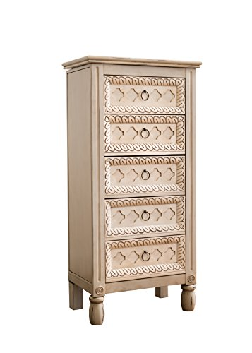 Hives and Honey Abby Jewelry Armoire 4025in X 195in X 1175in Antique Ivory