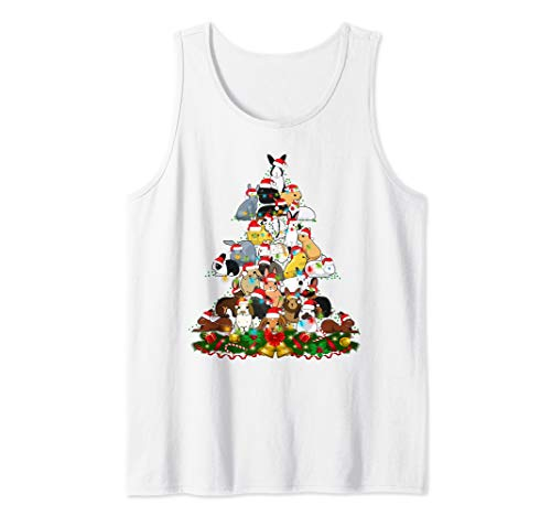 Christmas Bunny Tree Xmas Noel Decoration Gift Rabbit Funny Tank Top